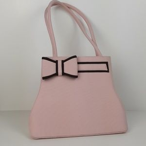 Pink and Brown small bow purse